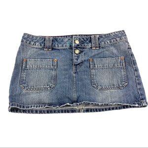 American Eagle Women's Blue Jean Skirt 6